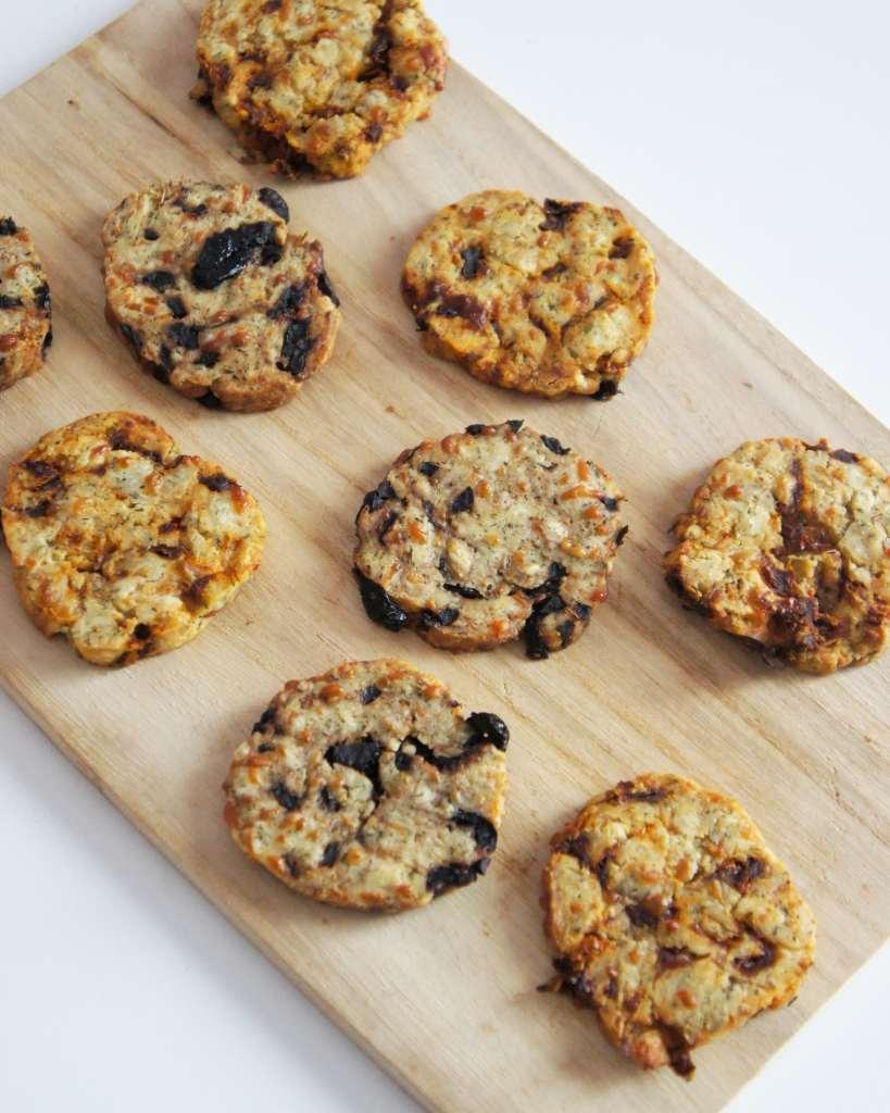 Cookies salés parmesan-tomates séchées/olive