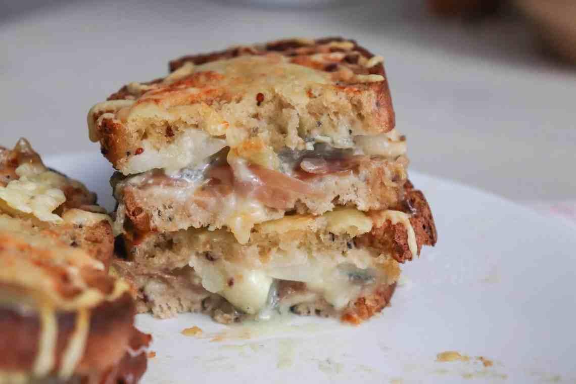 Grilled Cheese Sainte-Maure de Touraine & jambon de Parme : recette facile et rapide