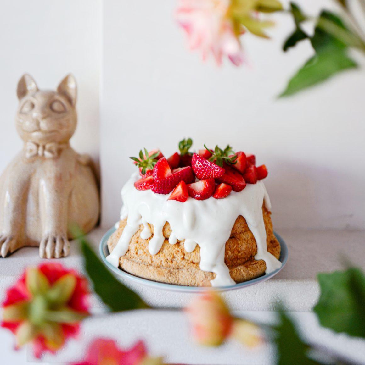 Angel cake : le gâteau des anges à la fraise